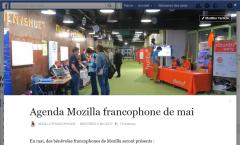 Mozilla fr : agenda du mois de mai 2017