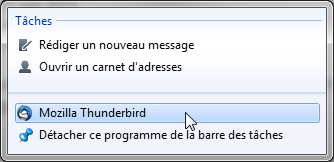 Thunderbird 45 : tâches