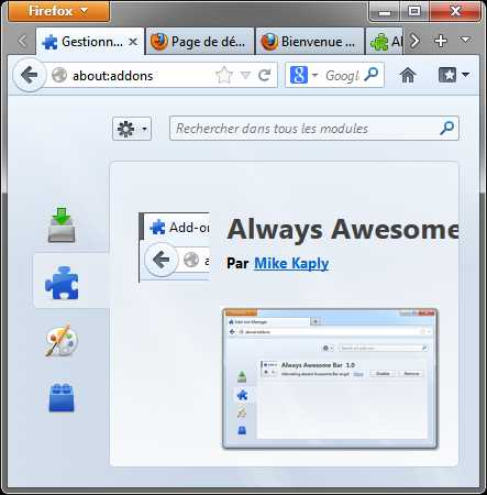 'Always Awesome Bar' dans Firefox