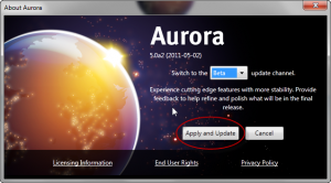 About Aurora > Apply and Update
