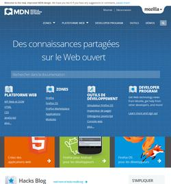 Nouveau look du Mozilla Developer Network
