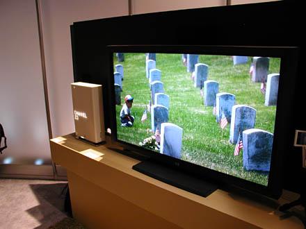 Pierres tombales affichées sur une TV