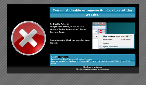 You must disable or remove Adblock to visit this website.