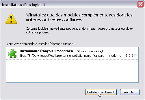 BlueGriffon (fr) > Installer le dictionnaire