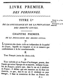 code civil 1804 article 9 – partie 1