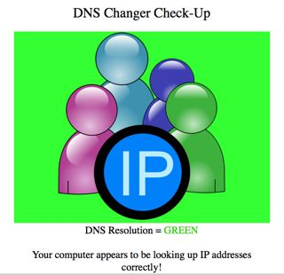 DNS Changer Check-Up - Green