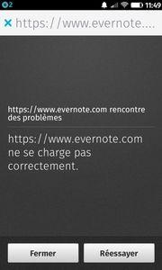 Evernote rencontre des problèmes
