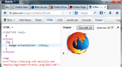 Démo d'image-orientation à 120° dans Firefox 26 Nightly