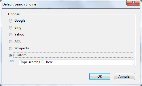 Firefox default search engine change