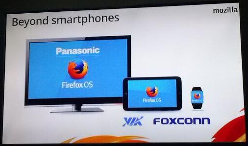 Firefox OS : beyond smartphones : TV tablette montre – Panasonic Via Foxconn Mozilla