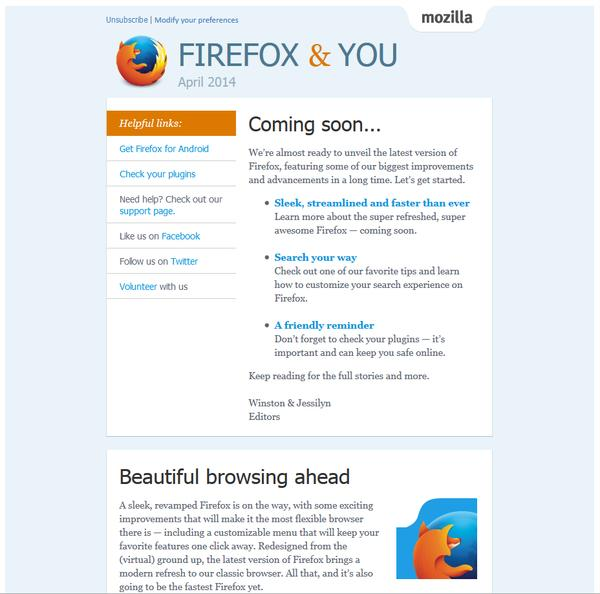 Firefox & you – april 2014 : Coming soon…