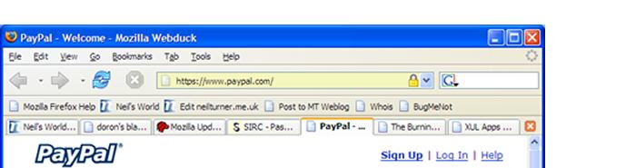 Cadenas et coloration de la barre d'adresse pour site sécurisé