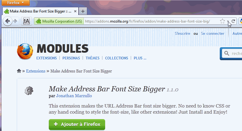 Make Address Bar Font Size Bigger