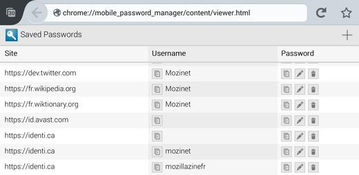 Mobile Password Manager viewer