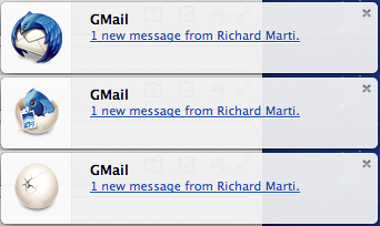 Notifications de nouvel email dans Thunderbird 23 (Earlybird)