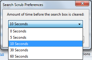 Search Scrub preferences