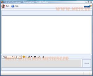 MSN Web Messenger dans Firefox